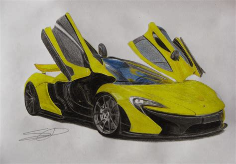 mclaren drawing mclaren p1 drawn by me