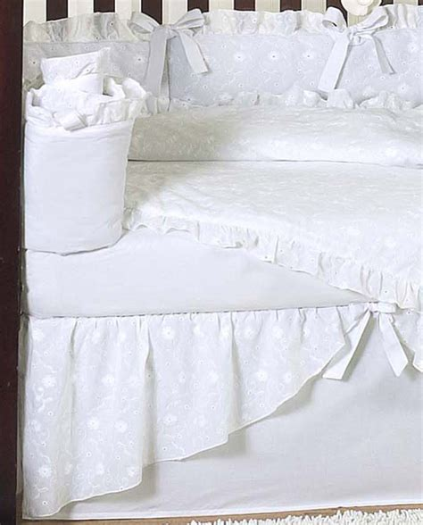 white nursery bedding sets luxury unique designer white eyelet cheap discount 9p baby crib bedding set ebay