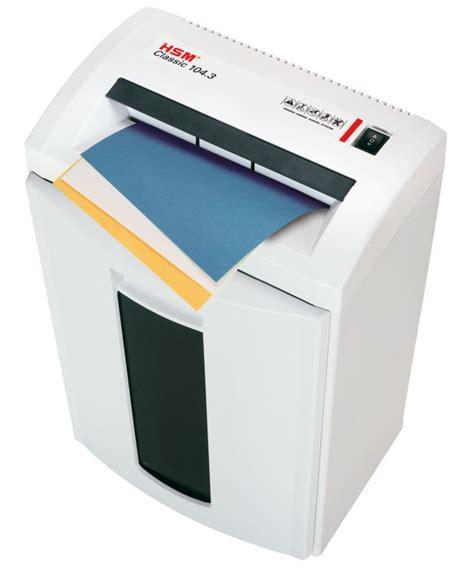 Hsm Shredder Classic 104 3 3 9 Mm hsm 104 3 destructora de documentos en papel para oficina