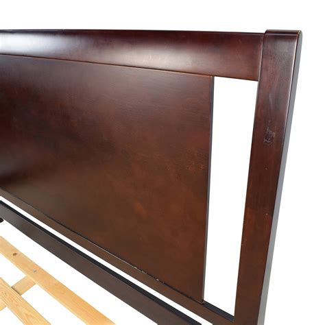 wood california king bed frame 90 off wood sleigh california king bed frame beds