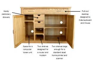 hidden office desk hidden home office mobel computer desk solid oak l105cm