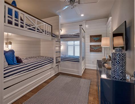 bunk bed railings seaside shingle coastal home home bunch interior design