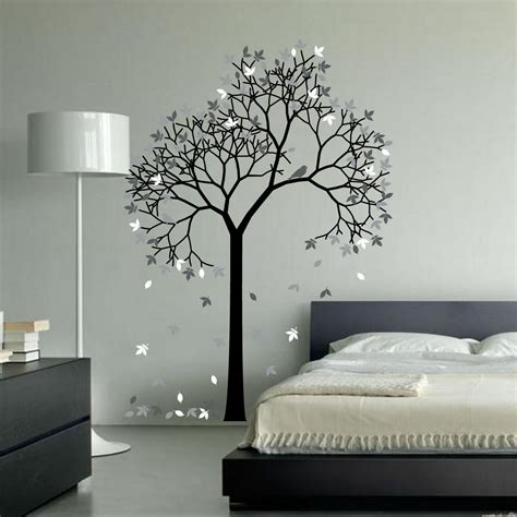 outstanding tree wall decal ideas for modern home interior