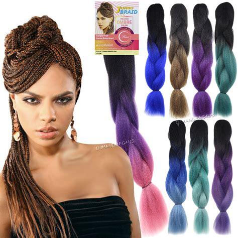 ombre braiding hair femi collection ombre two tone jumbo braid kanekalon hair