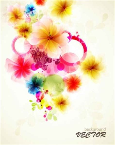 Refreshing Flowers Background Art Vector 02 Vector Drawing Colorful Flower Backgrounds For Powerpoint Templates