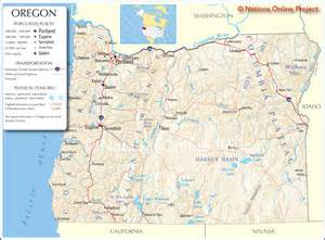 oregon map usa