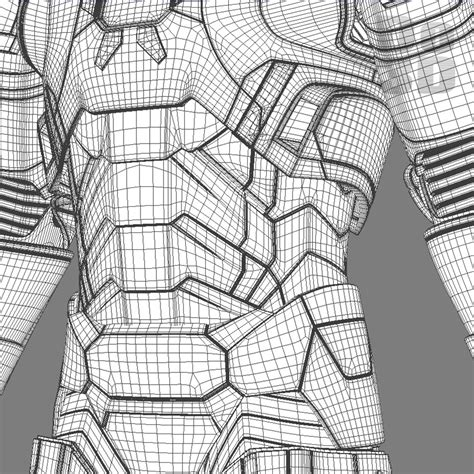 iron suit template 3d printable model of iron patriot armor suit from