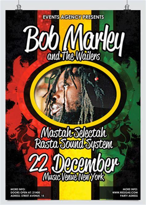 Reggae Rasta Flyer Template Jamaican Flyer Templates