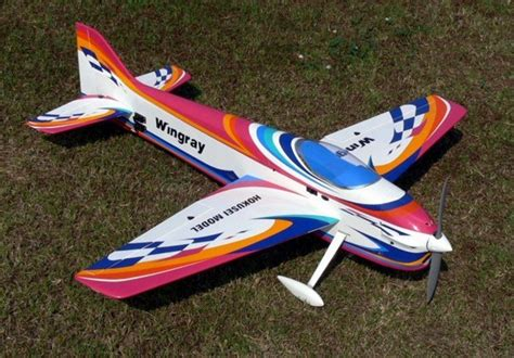 pattern airplanes rc new hokusei wingray 70 f3a gas electric pattern balsa arf