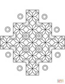 patterned colored of the indian indian geometric pattern coloring page free printable