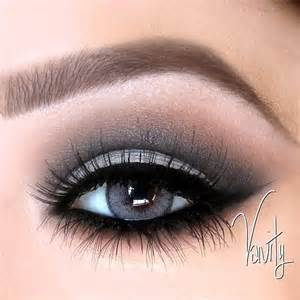 grey and black dramatic eye makeup eyeshadow