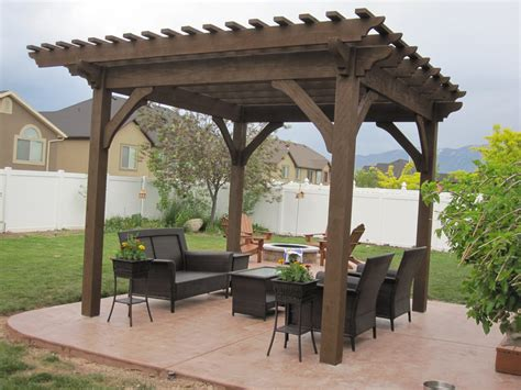 curry residence timber frame pergola kit installation