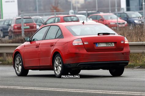 Mba Rear End by Spyshots 2016 Skoda Superb With Minimal Camouflage