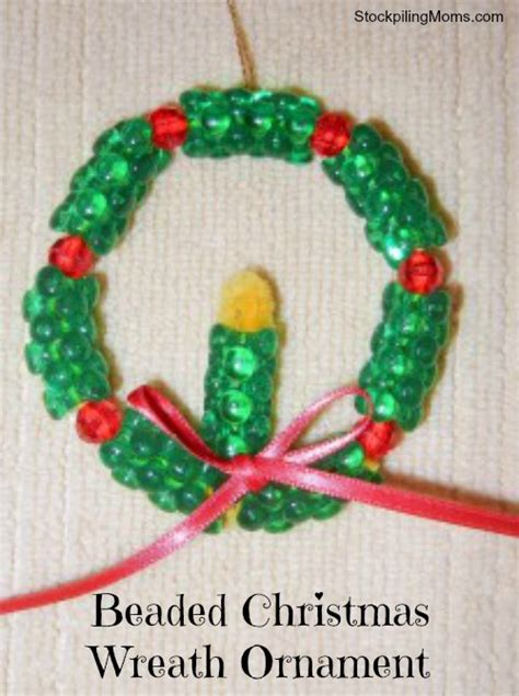 beaded christmas wreath ornament christmas craft
