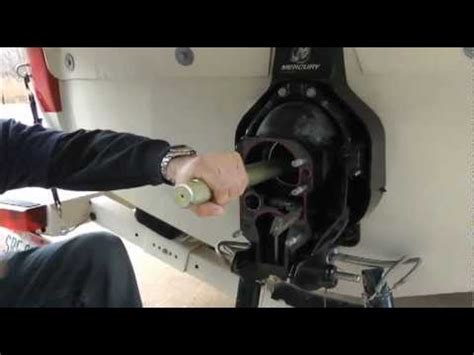 volvo penta xdp outdrive failure gimbal bearing removal and replacement by mallory marine
