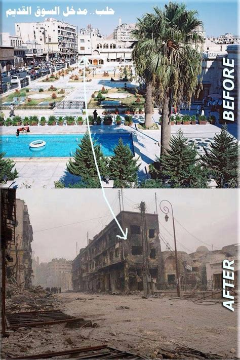 syria before and after aleppo before and after syria pinterest cas and the