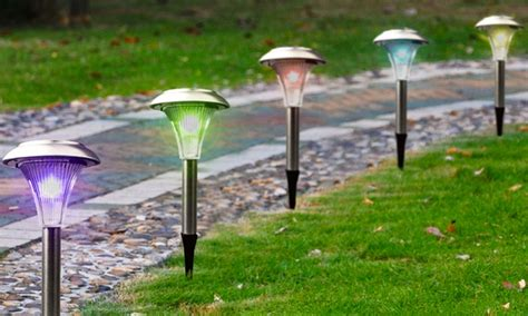 good solar path lights solar garden path lights groupon goods