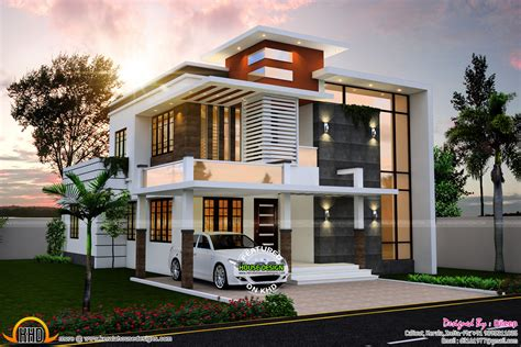 flat roof luxury home design kerala floor plans building sq ft nice contemporary house kerala home design floor sq