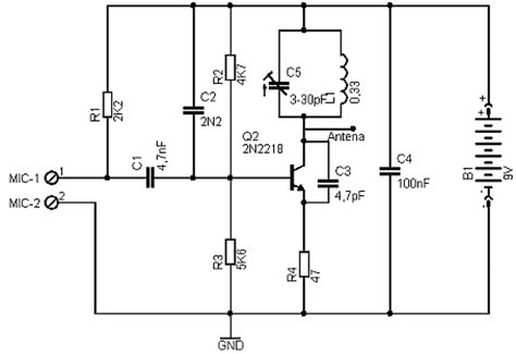 2 transistor fm transmitter circuit circuit zone electronic projects electronic schematics diy electronics
