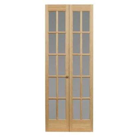 70 Inch Closet Doors Pinecroft 24 In X 80 In Classic 10 Lite Opaque Glass Wood Interior Bi Fold Door 872620