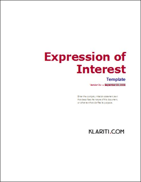 template expression request for template instant rfp