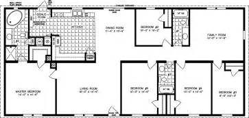 Five Bedroom Floor Plans by 5 Bedroom Mobile Home Floor Plans 6 Bedroom Double Wides