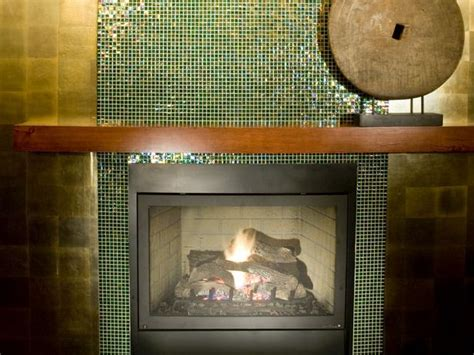 Glass Mosaic Tile Fireplace by Green Glass Tile Fireplace Ideas For Home