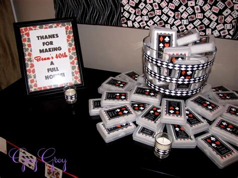 40th Birthday Giveaway Ideas - casino table decorations ideas photograph adult 40th las v