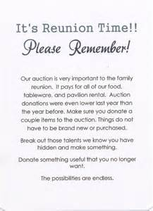 49th annual palmer family reunion invitation back
