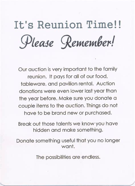 Invitation Letter Format For Reunion 49th Annual Palmer Family Reunion Invitation Back Invitations Family Reunion