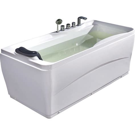 eago bathtub eago 63 in acrylic flatbottom bathtub in white lk1102 r