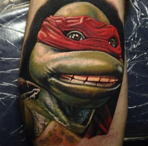 ninja turtle tattoos raphael mutant turtles tmnt by nikko