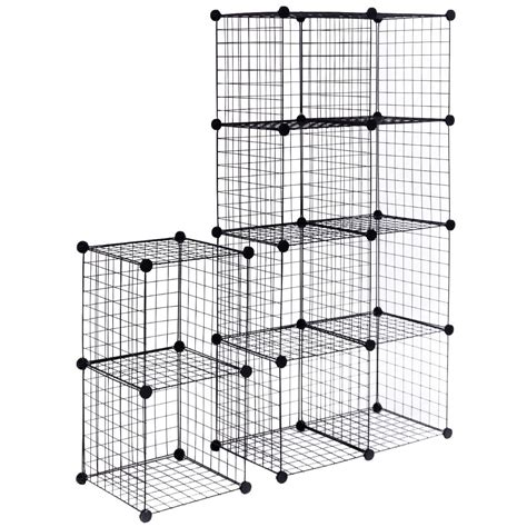 diy 12 cube grid wire cube shelves storage