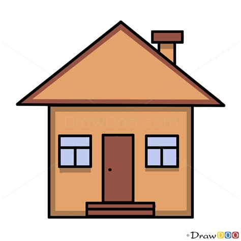 drawing home how to draw a house for kids step by step drawing