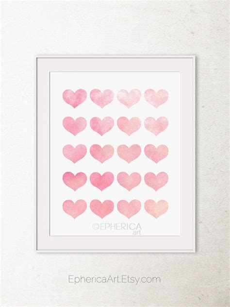Girly Wall Decor by Baby Pink Hearts Print Girly Wall From Epherica