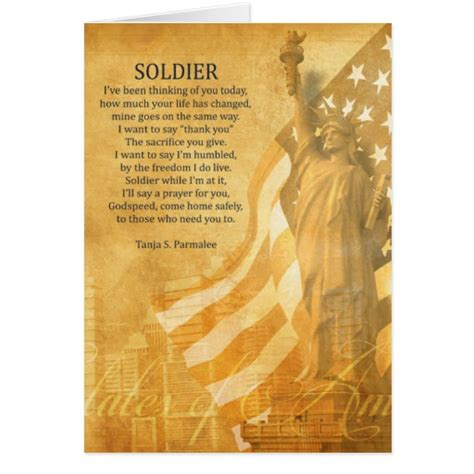 greets soldier soldier poetry collector greeting card zazzle