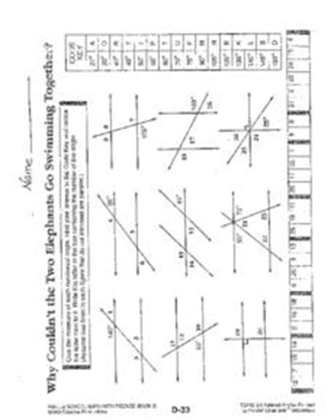 Non Parallel Lines And Transversals Worksheet
