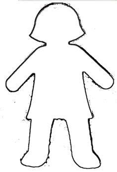 girl template coloring page girl and boy outline printable little boy template art