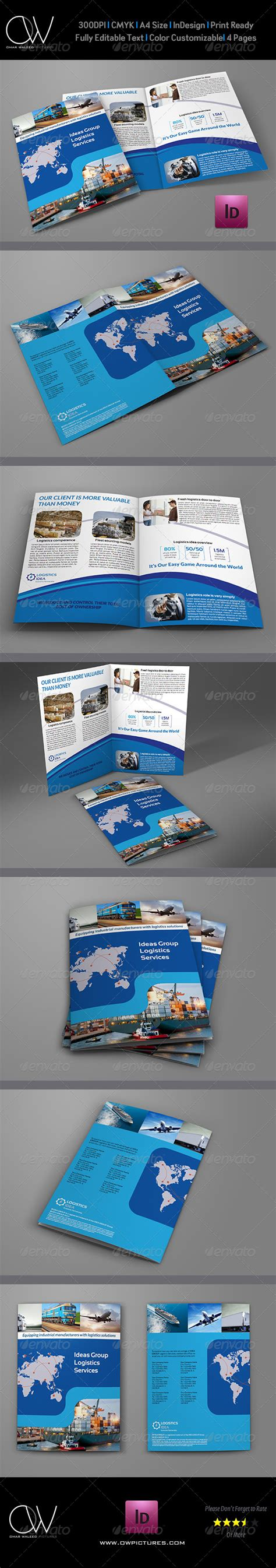 brochure template logistics logistics services bi fold brochure template graphicriver
