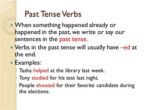 sentence pattern past tense past present and future ppt video online download