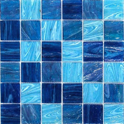 splashback tile aqua blue ocean mesh mounted squares glass floor and wall tile 3 in x 6 in