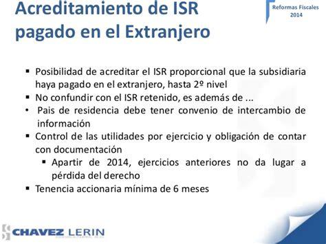 Acreditamiento De Impuestos Pagados En El Extranjero El | efectos de la reforma fiscal 2014