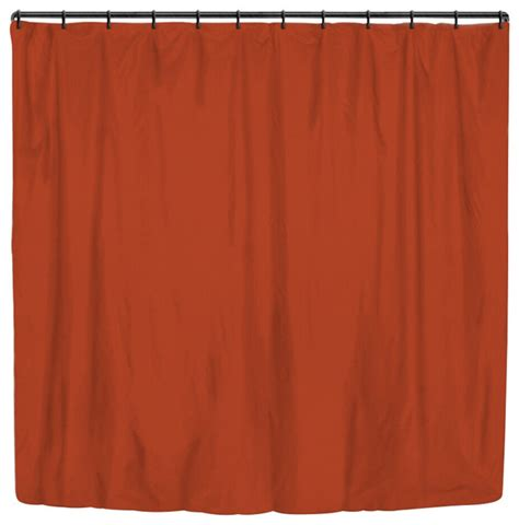 rust colored shower curtain rust solid color stripes large shower curtain modern