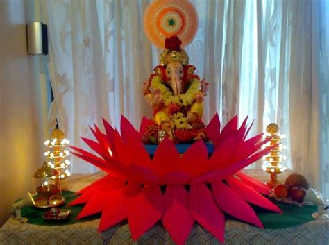 decoration for ganesh festival at home ganpati decoration ideas at home ganesh pooja decoration