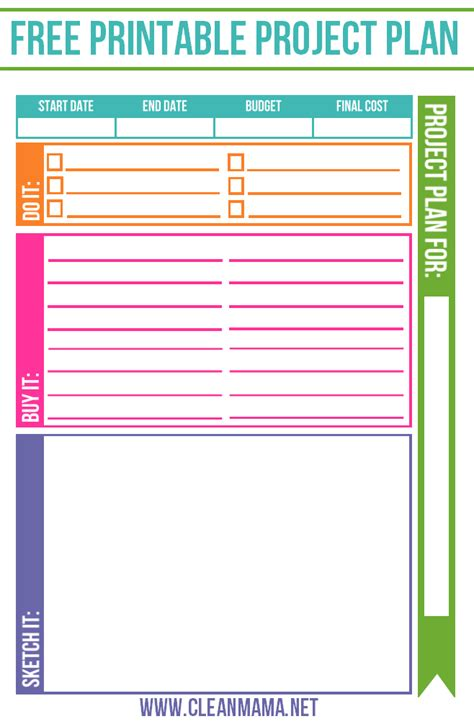 free printable planner design free project planner clean mama free printable and