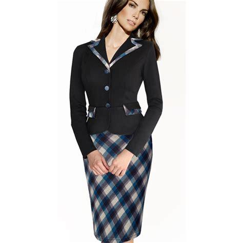 autumn winter vintage plaid suits sleeve