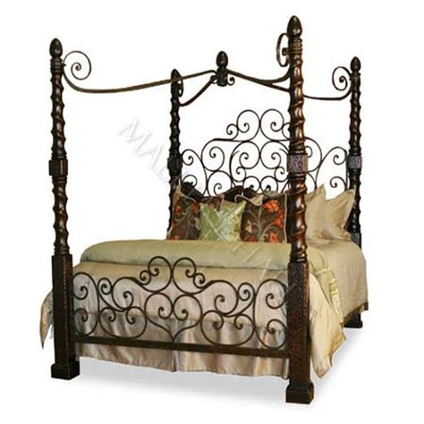 unique canopy beds romantic hand forged iron canopy bed 0 00 mallery