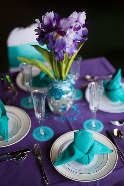 purple and turquoise wedding reception purple and turquoise wedding maybe one day