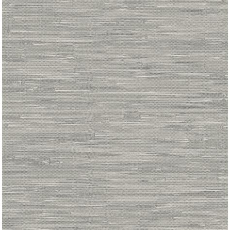 vinyl peel and stick wallpaper shop nuwallpaper gray vinyl grasscloth wallpaper at lowes com