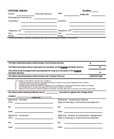22 Work Order Form Template Work Order Template Docs